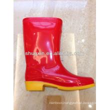 fashion cheep durable women's high rain shoe