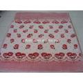 Estilo llano flores gorros tejidos de poliéster impresión mantas Raschel visón