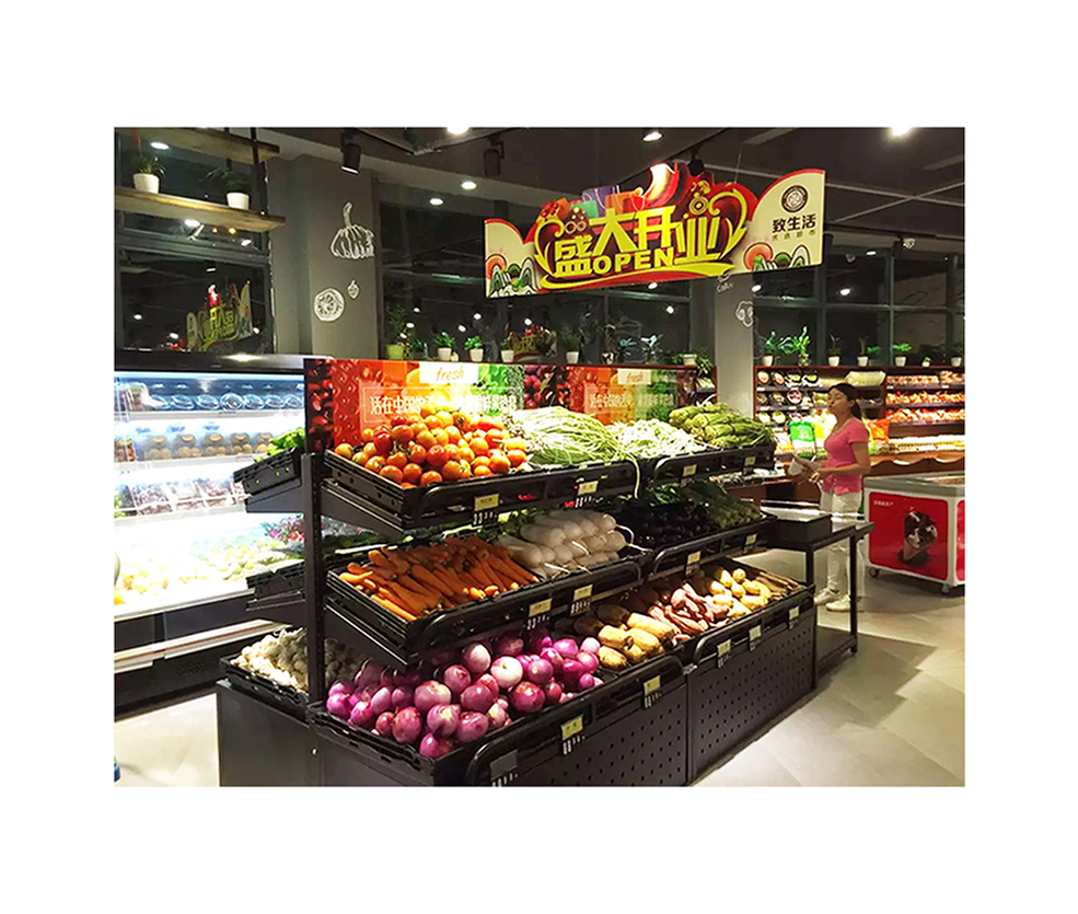 Steel Vegetable Display For Shop