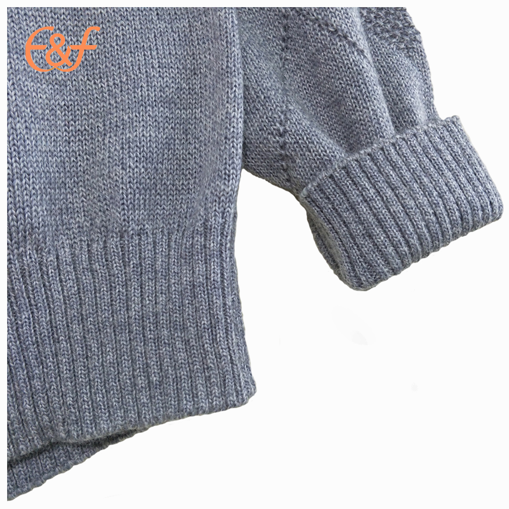 Knitted cotton pique sweater