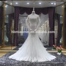 Vestido noiva cola de pez abierto espalda larga maxi sirena vestido de novia venta