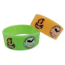 Cheap custom 1 inch funny cartoon anime rubber bracelets