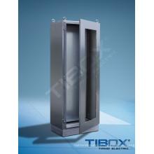 Шкаф из нержавеющей стали со стеклянными дверцами