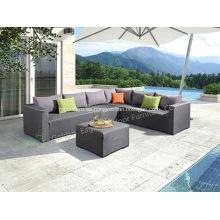 Conjunto de sofá de tela de aluminio al aire libre