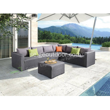 Utomhus Aluminium Fabric Sofa Set