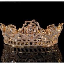 Small Gold Plated Beauty Queen Pageant Crown