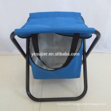 lightweight folding fishing chair, portable fishing stool with cooler bag