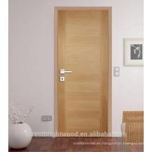 Habitación interior puertas de madera de roble (sin terminar o acabado)