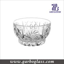 10.5cm Engraved Glass Footed Fruit Bowl (GB13D08105TY)