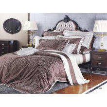 Silk Jacquard Soft Home Bright Colored Luxury Bed Sets For