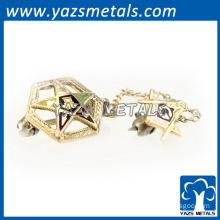 masonic chain pin metal craft