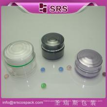 China Hecho en ZheJiang material acrílico 15ml 30ml 50ml forma redonda jarra acrílica en tarros