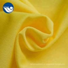 100% malha de poliéster super poli tecido de fábrica têxtil