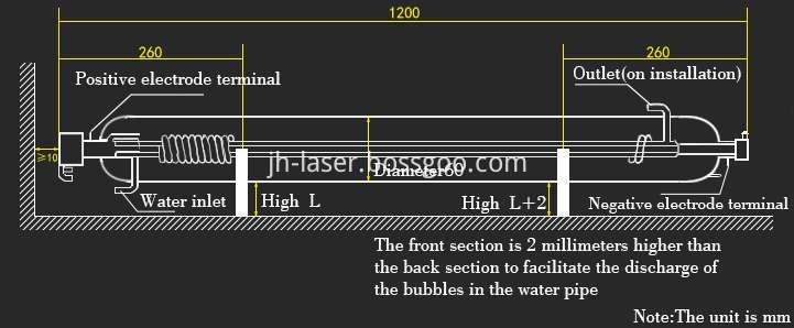 60w co2 laser tube