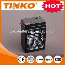 6v recargable batería de plomo
