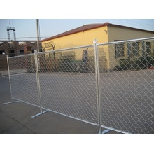 Temporary chain-link fence panel