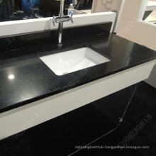 Black Galaxy Quartz Countertop Bathroom Acrylic Solid Surface Vanity Top