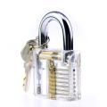 Transparent Practice Padlock with Hh Folding Knife Lockpicking Tools (Combo 5)