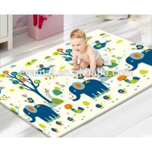 2016 ventes chaudes et nouveau design enfant jeu double côté PU matériel bébé jouer rampant tapis, tapis de jeu lavable fabriqué en Chine
