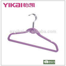 Space saving rubber lacquer ABS clothes hanger with notches and bar