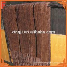 Manta de piel de visón tejida de piel de visón de calidad superior