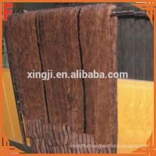 Top quality mink fur tails knitted mink fur blanket