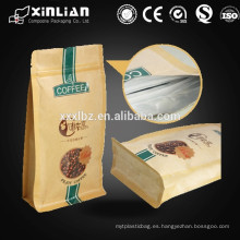 Bolsa de papel kraft lavable para bolsa de papel kraft con ventana