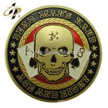 Nuevo diseño personalizado barato metal ruso en blanco estampado monedas de juego de caja de dinero