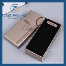 Boîte en carton de couvercle de fond d'or pour le portefeuille