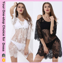 Women Plus Size Summer Beach Sexy Lace Beach Dress (50094)