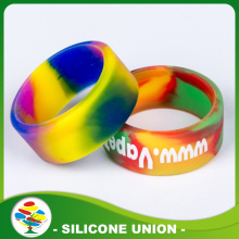 Latest Design Color Mixing Silicone Finger Wedding Ring
