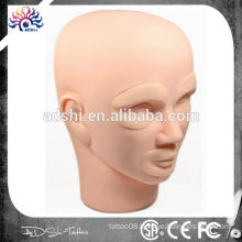 Practice face for permanent makeup skin, replacement practice head