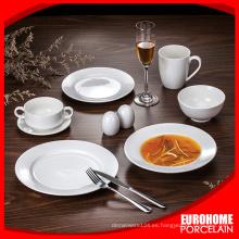Eurohome serie redondo blanco por mayor de porcelana de boda