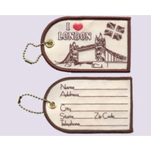 Embroidery Luggage Tag, I Love London