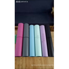 2018 customized eco friendly anti slip natural rubber custom printed PU yoga mats