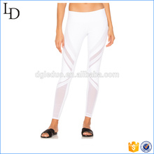 White with mesh style yoga pants compression women fitness yoga legging