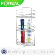 Metal Wire Chrome Plating Bathroom Corner Organizer