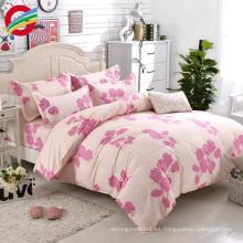 hojas de cama del lecho de la tela 100% de algodón al por mayor barato al por mayor