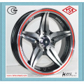 competitive price red alloy wheel red line alloy wheel for cars