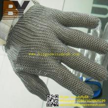 Luvas de malha de couro para luvas de segurança de trabalhador de vidro de açougueiro