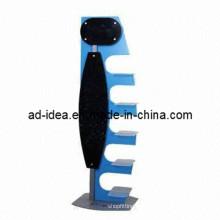 Custom Wood Exhibition Rack/Acrylic Retail Flooring Display Stand