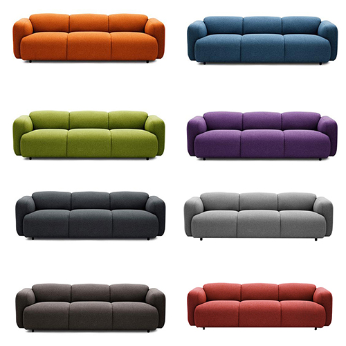 Fabric Upholstered Swell Sofa
