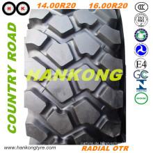 14.00r20, 16.00r20 Tube & Tubeless Reifen von Road Reifen Radial OTR Reifen
