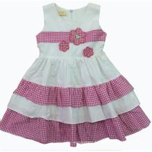 Sommer schönes Kleid in heißer Verkauf Kinderkleidung (sqd-126)
