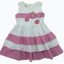 Vestido lindo de verão em roupas de crianças de venda quente (SQD-126)