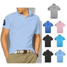 OEM-Männer dünnes Sport-Kurzschluss-Hülsen-beiläufiges Polo-Hemd (XY-P08)