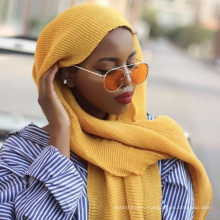 24 цвета рифленный хлопок мусульманских женщин Дубай хиджаб оптовая