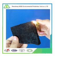 Fibra de carbono resistente al fuego \ El fieltro de fibra de carbono con membranas metálicas