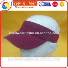 Persönliches Design Promotinal maßgeschneiderte 100% Baumwollsport Sonnenblende Sport Cap