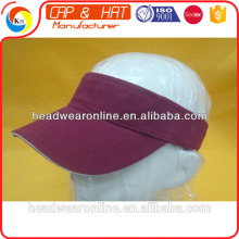 personal design promotinal customized 100% cotton sports sun visor sport cap